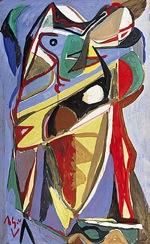 Bram Van Velde, Sans titre, 1936/1941. Gouache sur carton, 125,8 x 75,8 cm