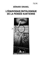 Dessin original d'Alain Lestié, Première de couverture de L'équivoque ontologique de la pensée kantienne, G.  </div>    <div class=