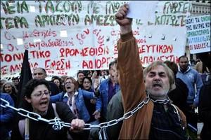 Manifestation d'Indignés à Athènes