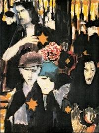 Après la rafle. Peinture. Centre National Jean Moulin – Bordeaux, exposition NUIT et BROUILLARD de Jean Jacques Morvan